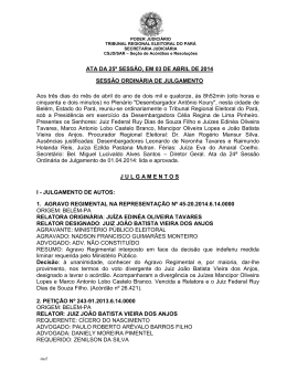 ATA DA 25ª SESSÃO, EM 03 DE ABRIL DE 2014 SESSÃO