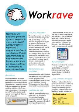 Workrave é um programa grátis que ajuda na recuperação e