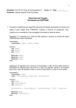 Exercícios - Instituto de Computação