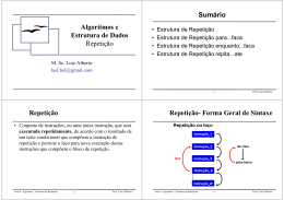 Repetição - Professor Luiz Alberto