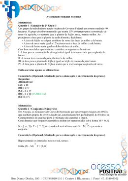 Questão 2 / Conjuntos Núméricos