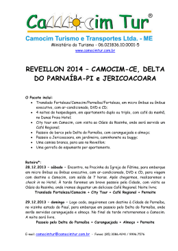 REVEILLON 2014 – CAMOCIM-CE, DELTA DO
