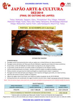 JAPÃO ARTE & CULTURA - Century Travel e Turismo