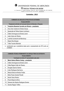 comissões definidas na reunião geral do dia 15 de julho de 2009