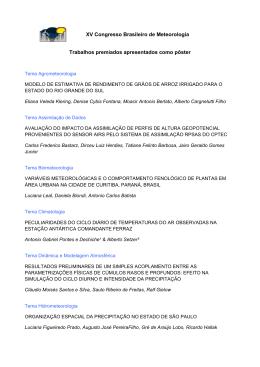 XV Congresso Brasileiro de Meteorologia Trabalhos