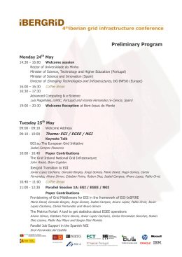Preliminary Program - Iberian Grid Infrastructure Conference