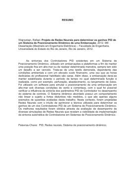 RESUMO Wajnsztajn, Rafael. Projeto de Redes Neurais para