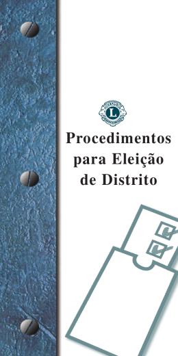 Diretrizes para eleições de distrito (lg23)