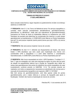 TOMADA DE PREÇOS Nº 015/2015 2º - Licitações