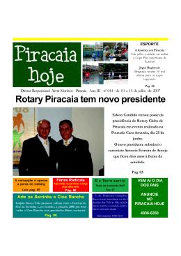 Rotary Piracaia tem novo presidente