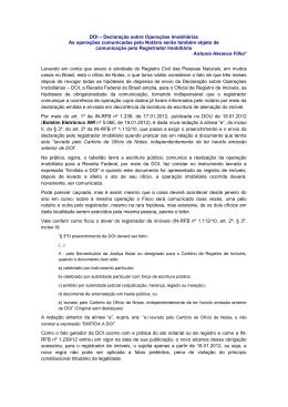 DOI – Declaração sobre Operações Imobiliárias As