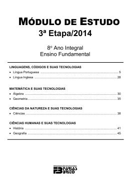 MÓDULO DE ESTUDO 3ª Etapa/2014