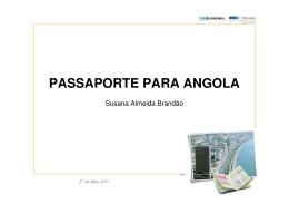 PASSAPORTE PARA ANGOLA