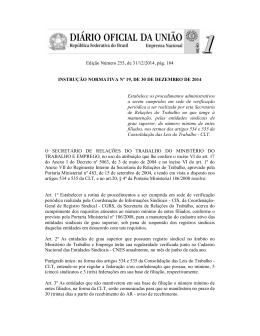 Instrução Normativa nº 19 de 2014