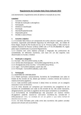 Regulamento do Contador Bola Cheia Safeweb 2015