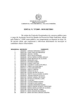 Edital 57/09 - Tribunal de Justiça de Santa Catarina