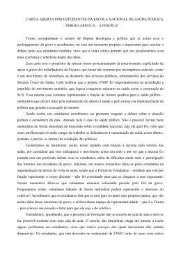 CARTA ABERTA DOS ESTUDANTES DA ESCOLA - asfoc