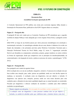 Errata Documento Base Assembleia do PPI