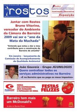 Jantar com Rostos Bruno Vitorino, vereador do Ambiente da