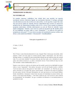 3º ano Tópico Modernismo-Brasil Nov/09 Wilton Nome: Nº: Turma