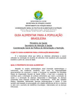 GUIA ALIMENTAR PARA A POPULAO BRASILEIRA