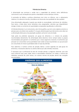 Pirâmide de Alimentos - Externato Elvira Ramos
