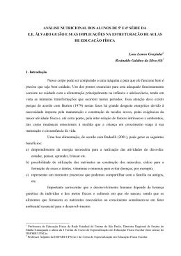 GRAZIADE, Lara Lemos - Especialização em Educação Física Escolar