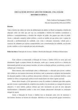 educação de jovens e adultos no brasil: uma análise