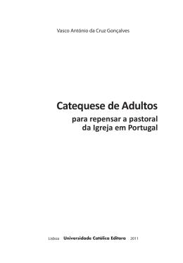 Catequese de Adultos - UCE - Universidade Católica Portuguesa