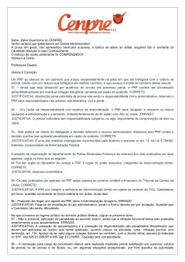 direito adm – prf 2013