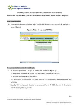 Orientação para acesso às notificações pelas empresas.
