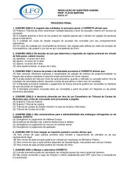resolução de questões oab/mg prof. flávio martins aula: 01