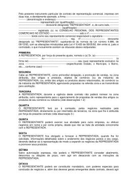 Contrato de Representações