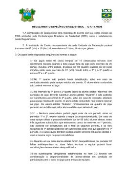 Regulamento Específico - Basquete - 12 a 14 anos