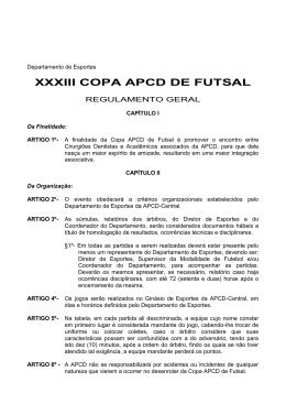 XXVIII COPA APCD DE FUTSAL