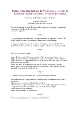 Tratado sobre Transferência de Presos entre o Governo da