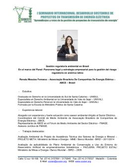 Renata Messias Fonseca - ABCE, Brasil