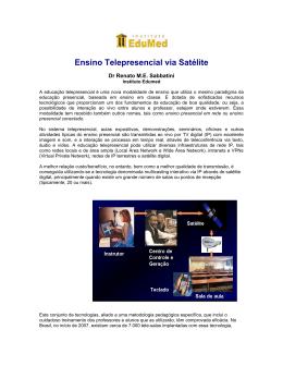 Ensino Telepresencial via Satélite