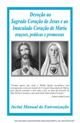 Devoção ao Segrado Coração de Jesus e ao Imaculado Coração