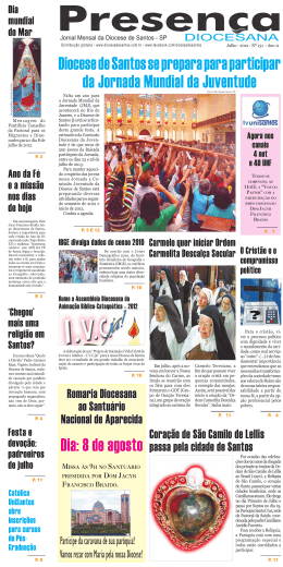 Jornal Presença Diocesana 131 julho 2012
