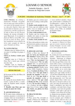 Louvar o Senhor Jornal Semanal - N269.indd