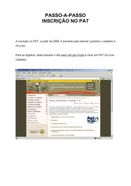 PASSO-A-PASSO_INSCRIÇÃO NO PAT - CONTEP