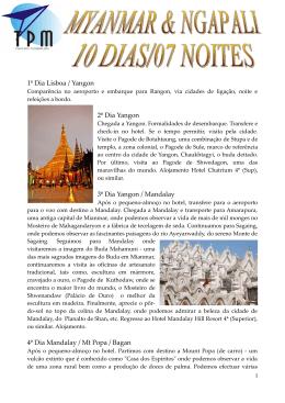 Myanmar & Ngapali - 10 dias / 7 noites