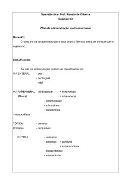 Semiotécnica- Prof: Renato de Oliveira Capitulo 03 (Vias de