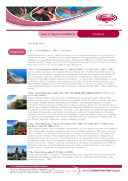 Madeira - Inscrições Fechadas