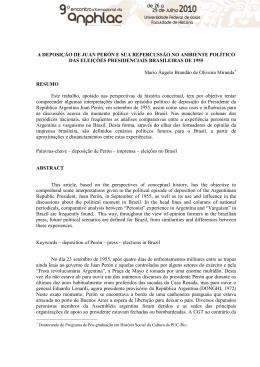 A DEPOSIÇÃO DE JUAN PERÓN E SUA - PUC-SP