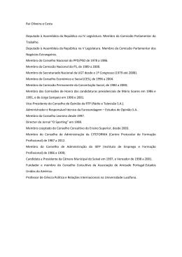 Rui Oliveira e Costa Deputado à Assembleia da República na