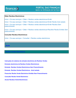 Obter Recibos Electrónicos Início > Os seus serviços