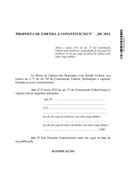 proposta de emenda à constituição nº , de 2014