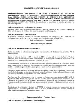 CCT2012-2014-Sinjope+Sindicato das Empresas de Rádio e